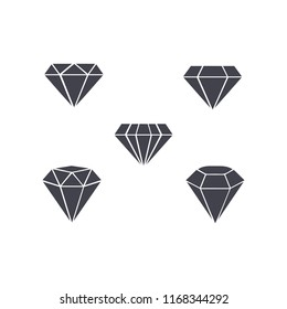 set of diamond symbol