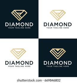 Set Diamonds logo design template