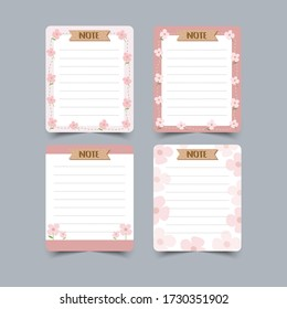 Set of diary planners and to do lists.planners, check lists. Isolated. Vector illustration.