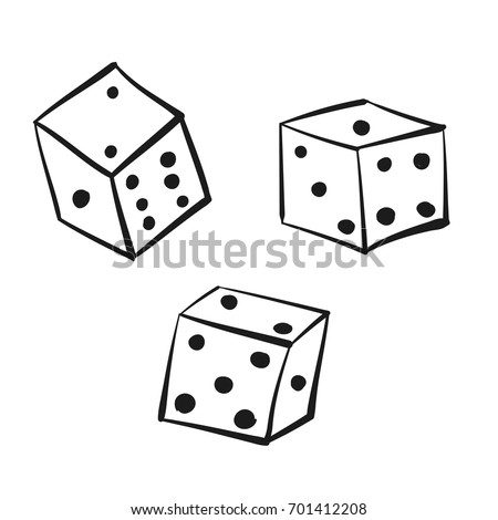 Set Dice Vintage Retro Style Design Stock Vector Royalty Free