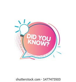 Set of did you know. Badge with megaphone icon label. Interesting facts speech bubbles, knowledge base label and social media faq banner. Vector illustration on white background.