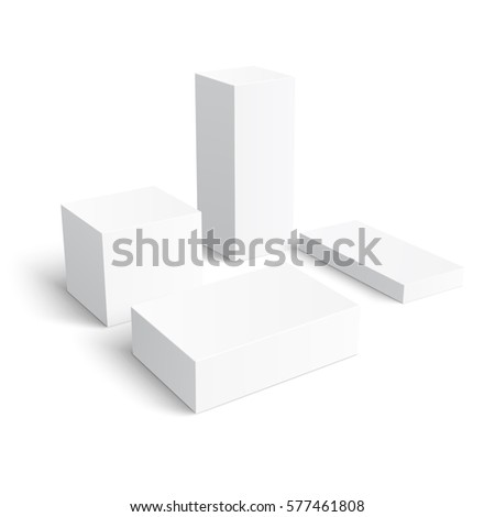 Set Of Different Blank Boxes Template For Your Design Vector Illustration