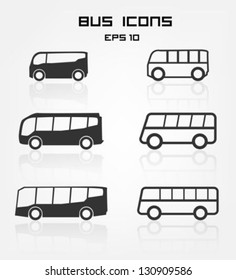Set of different bus icons