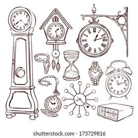 Set of different clocks