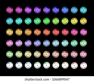 Set of different colorful sequins. Jewelry accessories.
