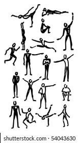 set of different figures, vector