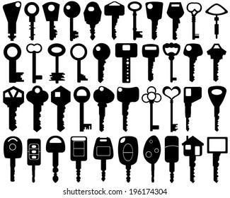 set of different keys isolated