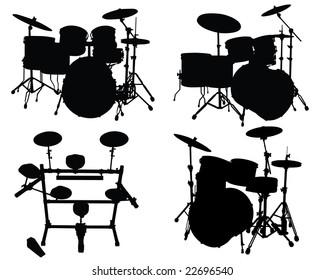 Ilustraciones, imágenes y vectores de stock sobre Rock Drum Set