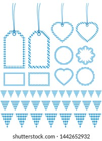 Set Of Different Label And Garlands Oktoberfest Diamond Pattern