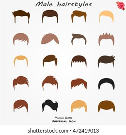Set different man hairs styling