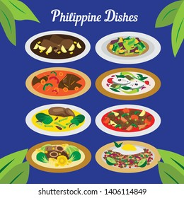 Set of Different Philippine Dishes