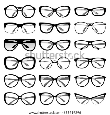 Set Different Shapes Spectacle Frames Men Stock Vector (Royalty Free ...