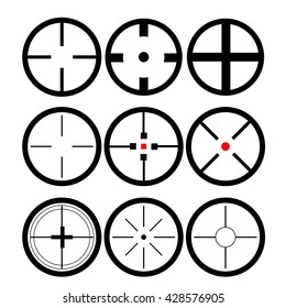 Set of different sights on a white background vector eps 10