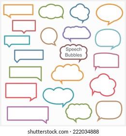 Set of different speech bubbles, vector eps10 illustration