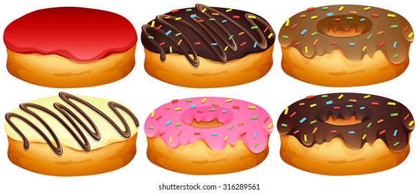 Dessins Donuts Stock Vectors Images Vector Art Shutterstock