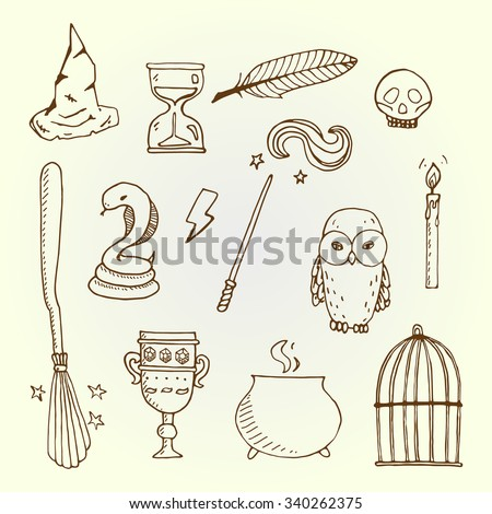 Set of different witch