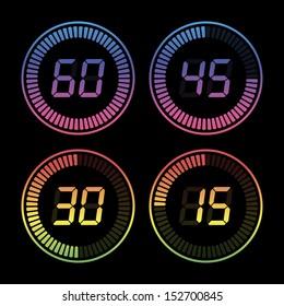 Set of digital timers