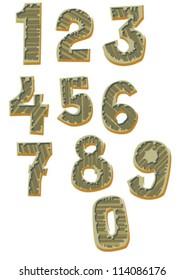 set of digits - cartoon