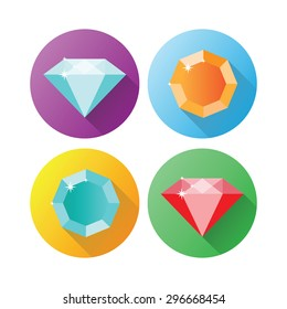 Set dimonds icons