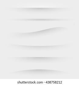 Set of dividers for web design vector