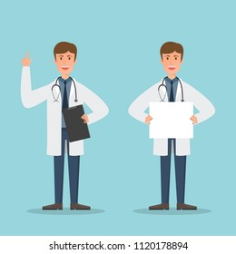 Set of doctors and nurse characters. Medical team concept in vector illustration design.