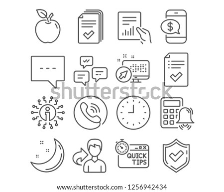 Set Document Blog Approved Checklist Icons Stock Vector Royalty