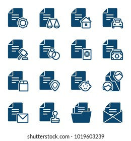 Set of documents icons. Vector illustration