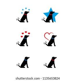A set of dog icons