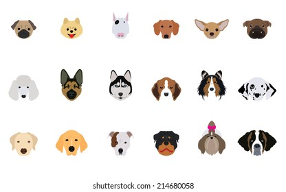 Set of Dogs Vectors and Icons SET 1