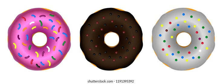 set donuts Isolated color