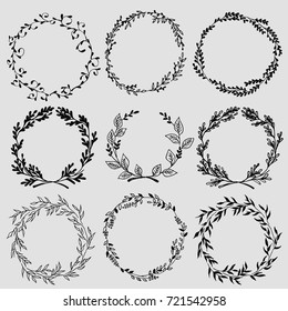 Set of doodle design elements.