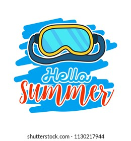 Hello google images stock photos vectors shutterstock set of doodle fun summer holidays cards design hello summer hand drawn style vector illustration stopboris