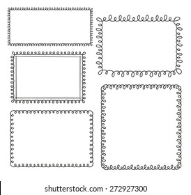 Set of doodle loop frames