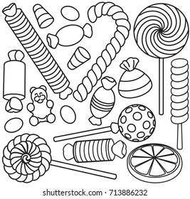 Coloring Page Candy Stock Vectors Images Vector Art