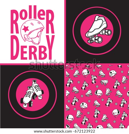 Set Drawings Patterns On Theme Roller Stock Vector Royalty Free Delectable Roller Set Patterns