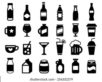 Set of drink and beverage icons