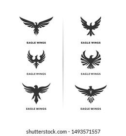 Set of Eagle Logo Design Vector. Eagle Logo Design Concepts Template