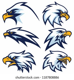 Set of Eagle Logo Vector Design