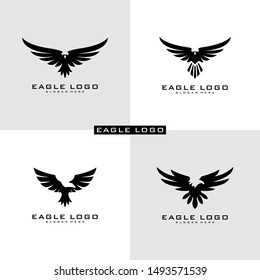 Set of Eagle Logo Vector symbol