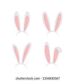 Set easter rabbit, easter bunny ears. Easter masks with rabbit e