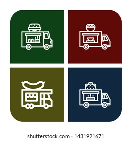 Set of eatery icons such as Food truck , eatery