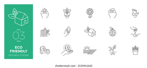 Set of Eco friendly line icons - Modern icons