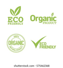 Set of eco friendly and organic labels