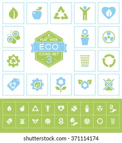 Set eco icons for web and mobile