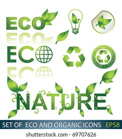 Set of Eco and Organic Icons