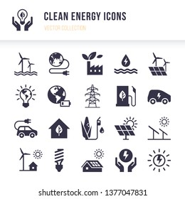 Set of eco vector icons in flat style isolated on white background. Eco collection with various icons on the theme of ecology and green energy. Isolated, editable and scalable icons.