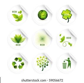 Set of ecology icons eps10