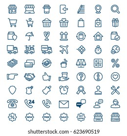 Set of E-commerce and shopping icons. Modern linear icons for Web and Mobile. Vector illustration