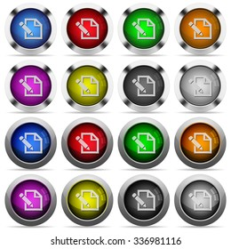 Set of edit glossy web buttons. Arranged layer structure.