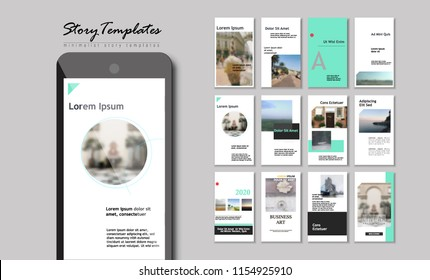 Set of Editable Instagram Original Story Templates. Pack of fashion flyers